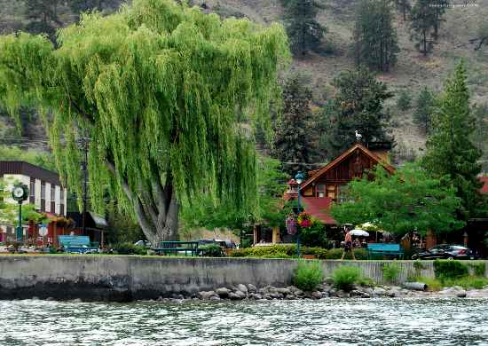 View of peachland waterfront from Okanagan Lake Boat Rental
