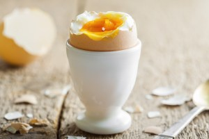Soft boiled eggs are a great (and soft!) source of protein