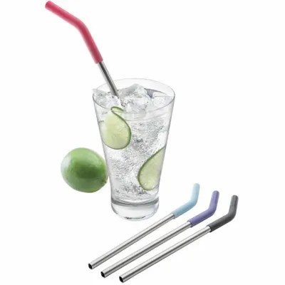 Reusable straws and water bottles at Kelowna Home Hardware.