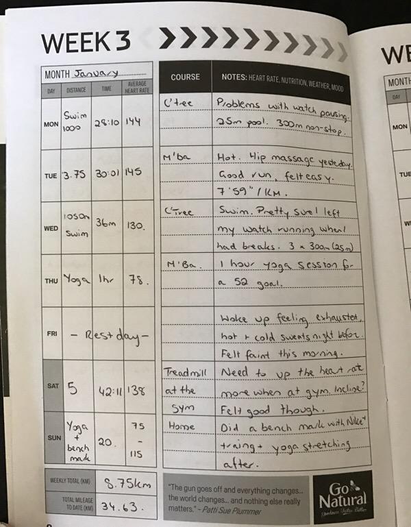 Training journal week 3