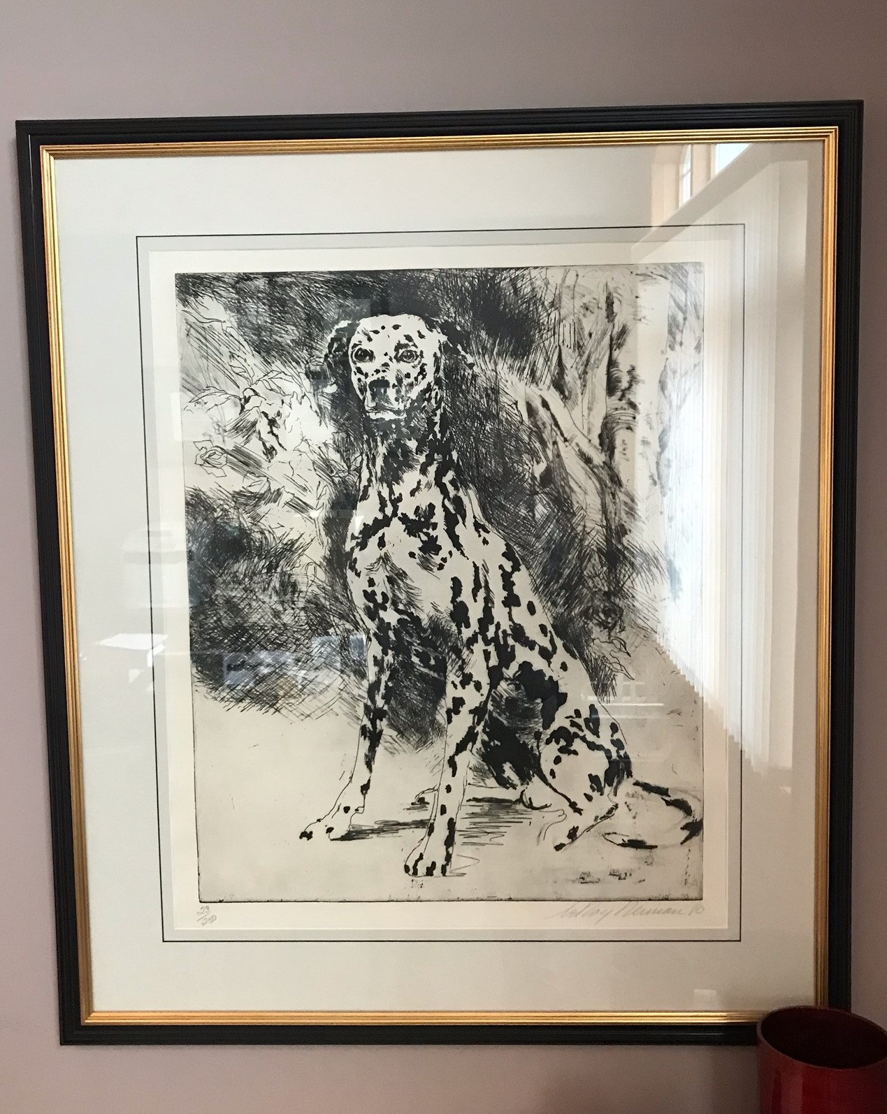 Leroy Neiman Signed Print Dalmation Dog