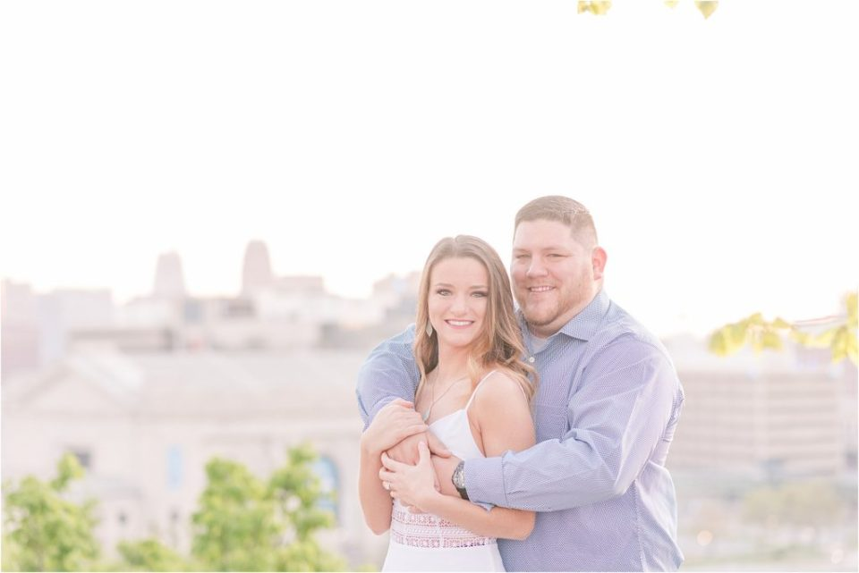 Spring sunrise engagement session in KCMO