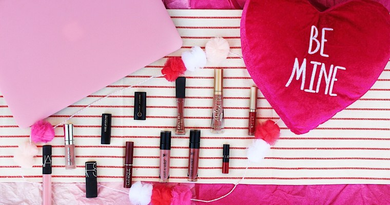 Valentine's Day Lip Colors-Drugstore and High-End