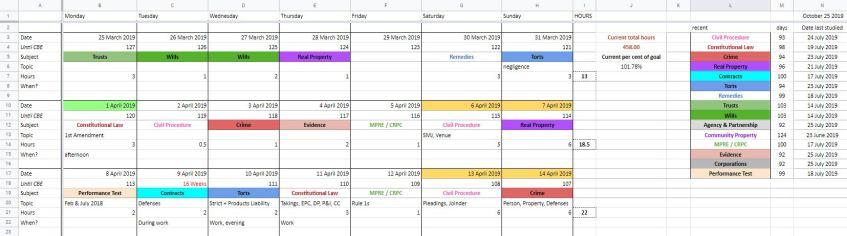 deep calendar