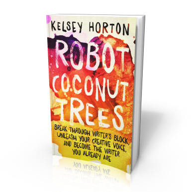 My new book Robot Coconut Trees - designed to help writers break out of their shells and SHINE