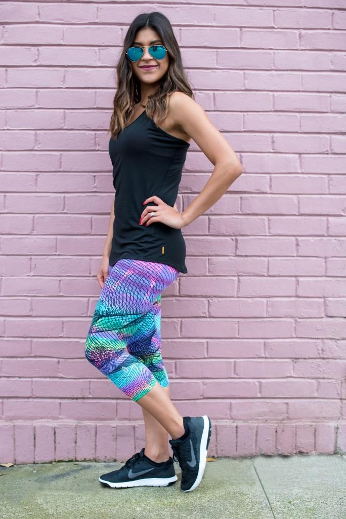 printed workout pants