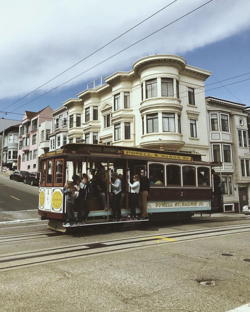 Powell and Mason Cable Car San Francisco, CA