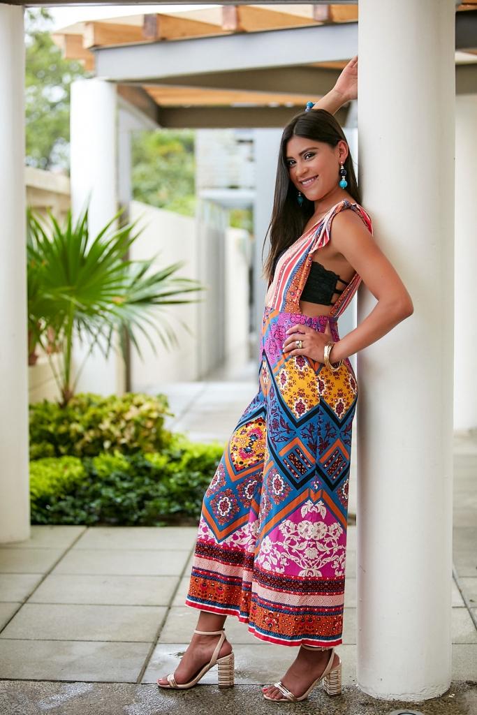 Lifestyle blogger Kelsey Kaplan of Kelsey Kaplan Fashion in floral Free People jumpsuit
