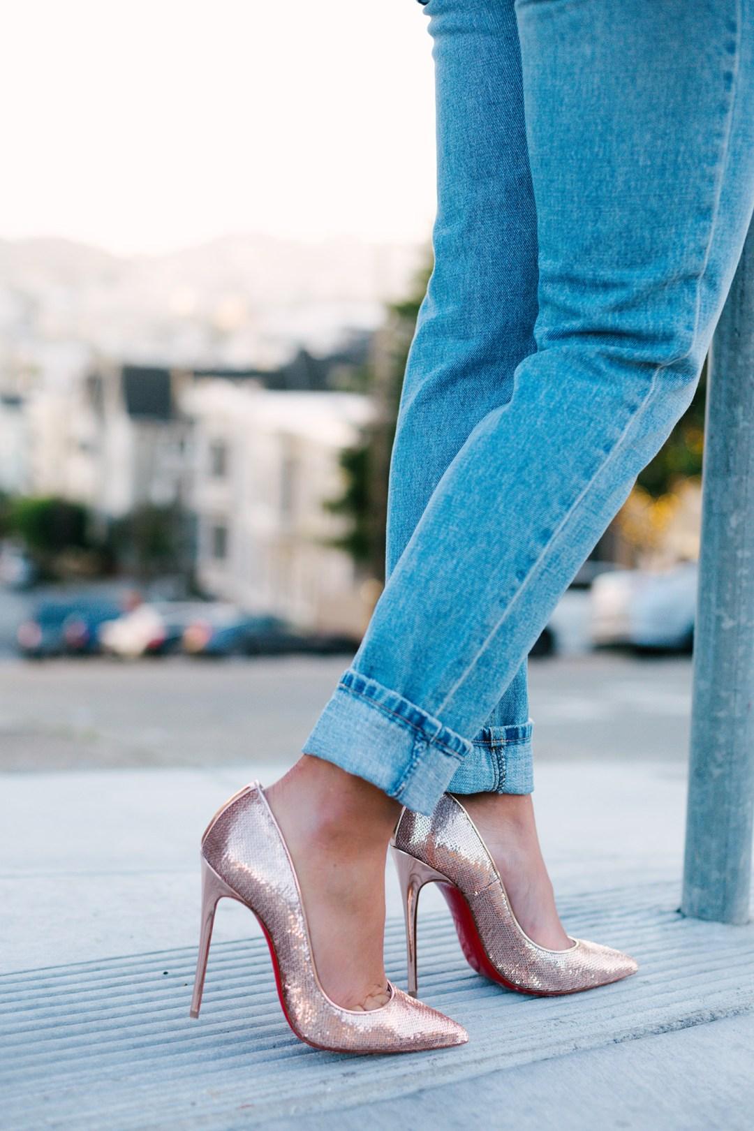 Lifestyle blogger Kelsey Kaplan Fashion wearing Christian Louboutin So Kate pump
