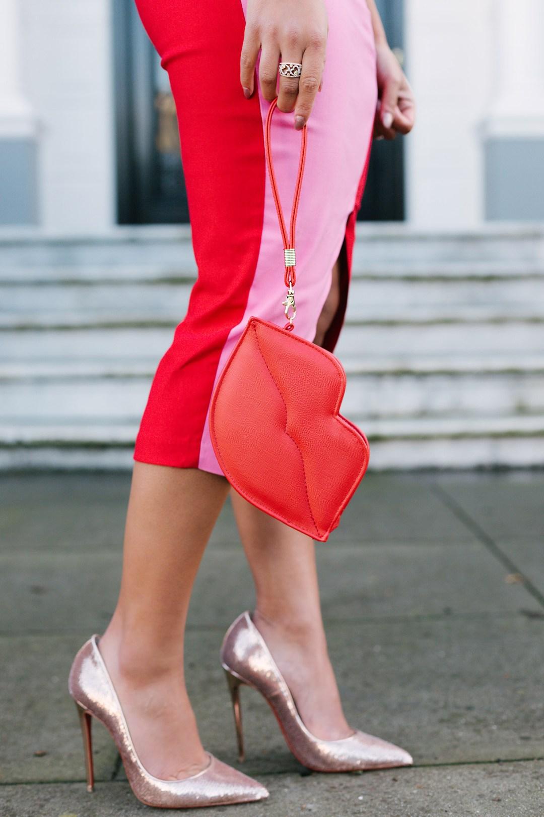 Lifestyle blogger Kelsey Kaplan of Kelsey Kaplan Fashion wearing Sweetheart Midi Dress and sequin Christian Louboutin heels
