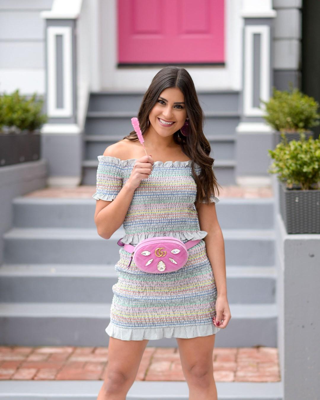 lifestyle blogger Kelsey Kaplan of Kelsey Kaplan Fashion wearing 90s fashion and gucci belt bag
