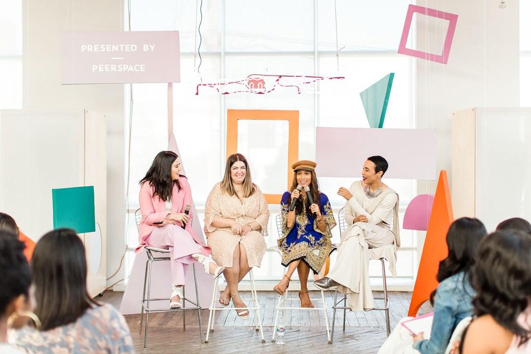 Lifestyle blogger Kelsey Kaplan of Kelsey Kaplan fashion celebrates female empowerment at Femme Fair