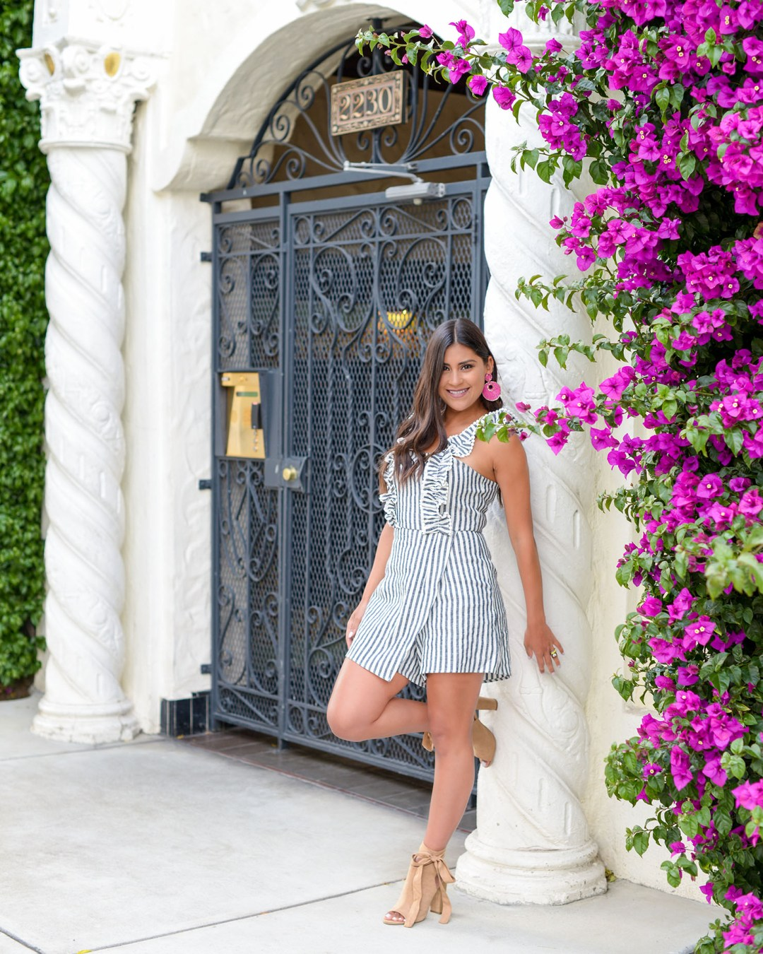 Lifestyle blogger Kelsey Kaplan of Kelsey Kaplan Fashion wearing VICI skort romper