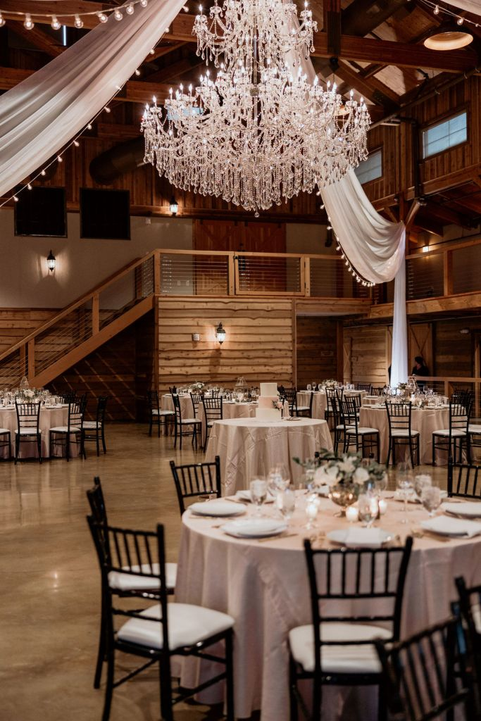 reception decor at tennessee wedding