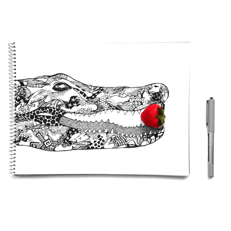 Alligator and strawberry