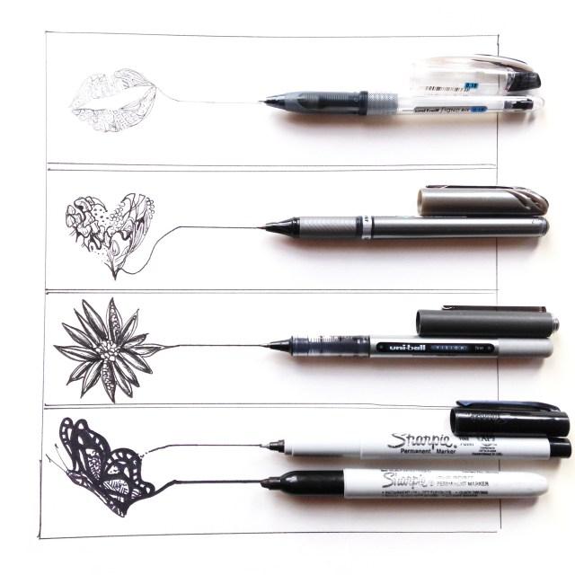 types of pens km