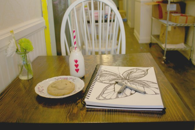 Butterfly Art and Cookies - Kelsey Montague Art