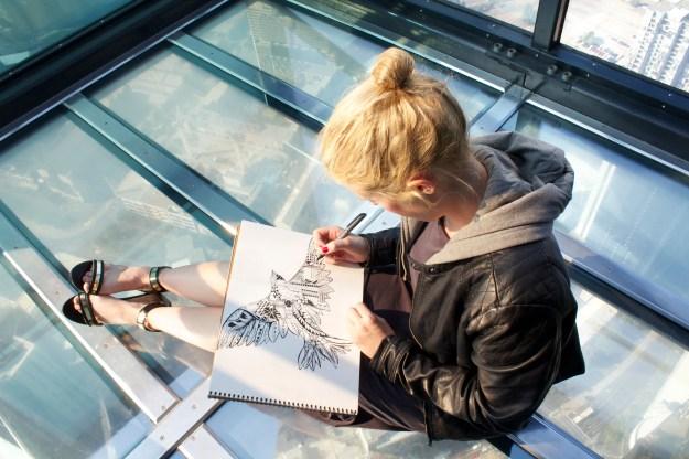 Kelsey Montague - Eureka Skydeck drawing