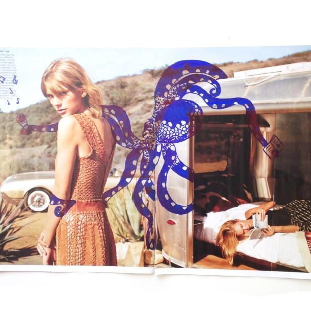 Taylor Swift & Karlie Kloss Vogue Magazine art by Kelsey Montague Art 3