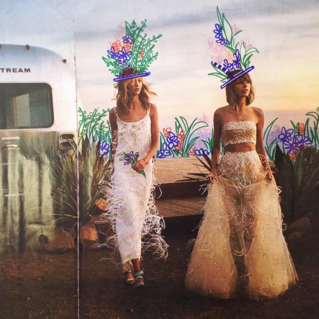 Taylor Swift & Karlie Kloss Vogue Magazine art by Kelsey Montague Art 5