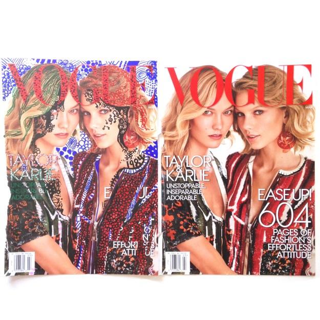 Taylor Swift & Karlie Kloss Vogue Magazine art by Kelsey Montague Art 8