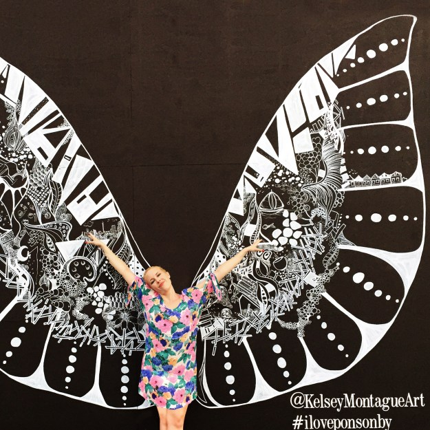 Ponsonby Mural in Auckland by Kelsey Montague Art