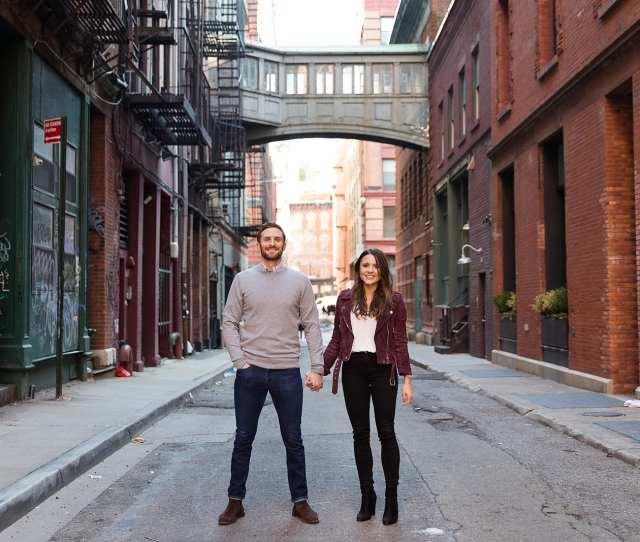 Tribeca Nyc Engagement Photo
