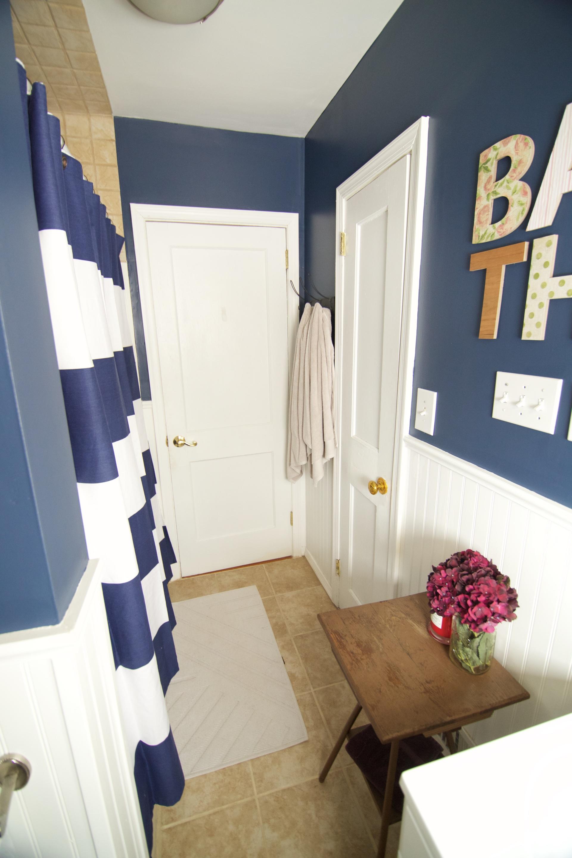 Little NO SO White Wainscot Bathroom  Kelseys Inspirations