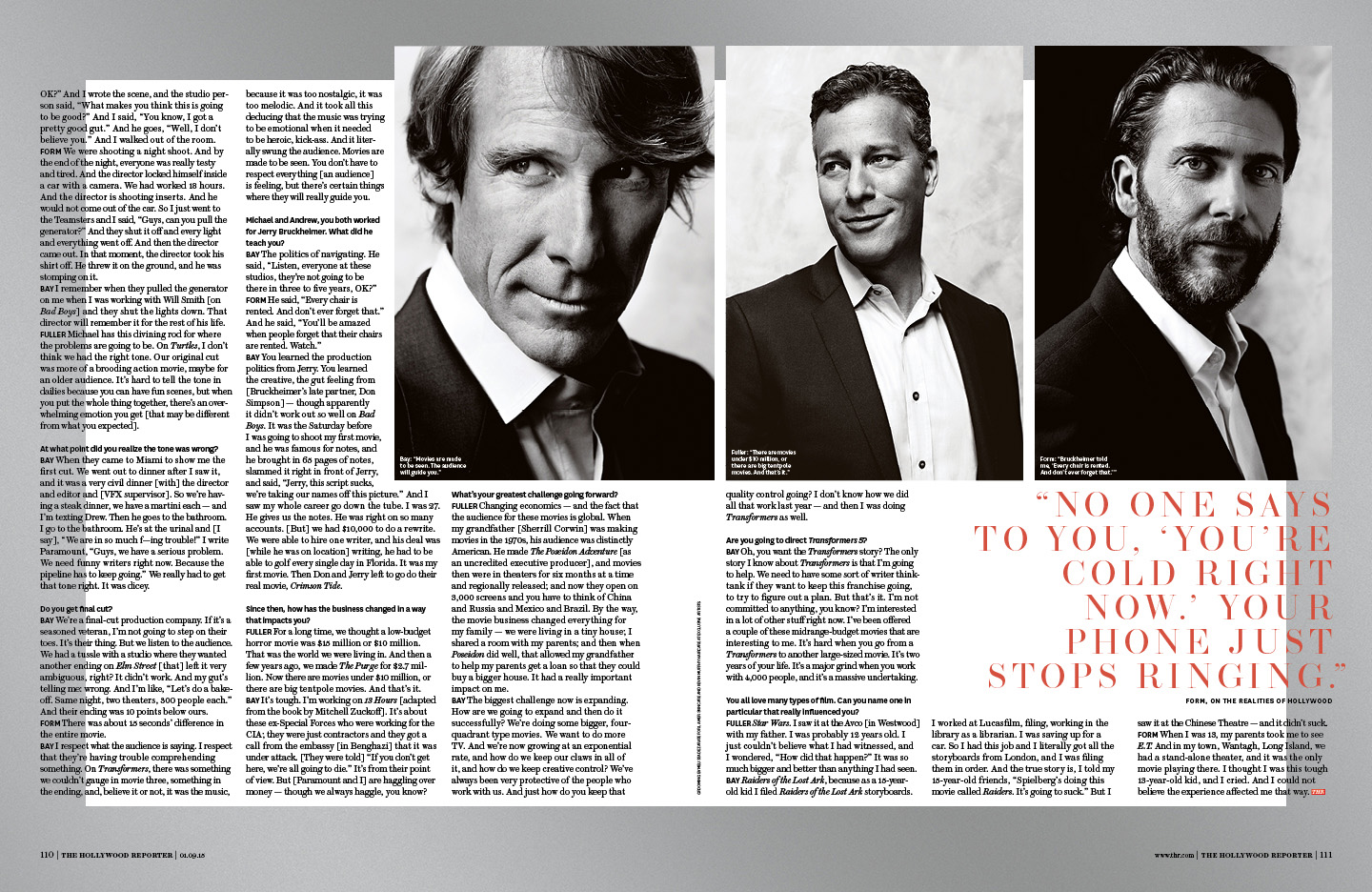Producers of the Year / The Hollywood Reporter / 1.9.15 / kelsey stefanson / art direction + graphic design / yeskelsey.com
