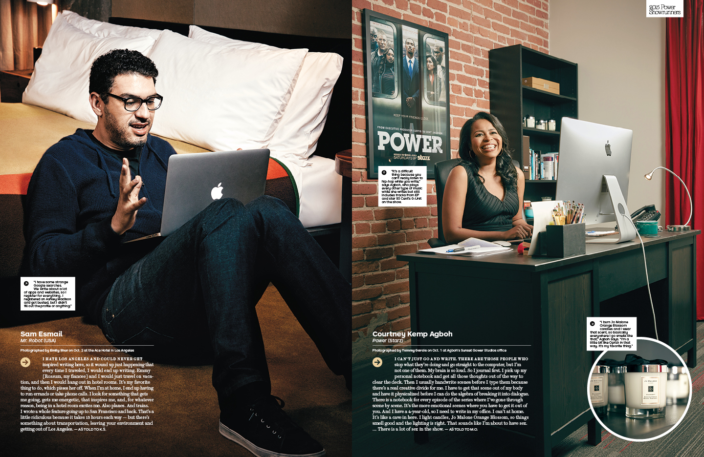 2015 Power Showrunners / The Hollywood Reporter / 10.28.15 / kelsey stefanson / art direction + graphic design / yeskelsey.com