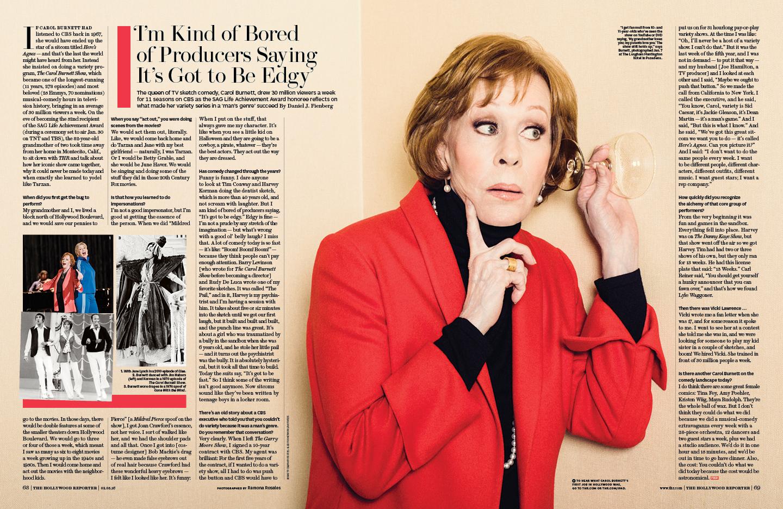 Carol Burnett / The Hollywood Reporter / 2.5.16 / kelsey stefanson / art direction + graphic design / yeskelsey.com