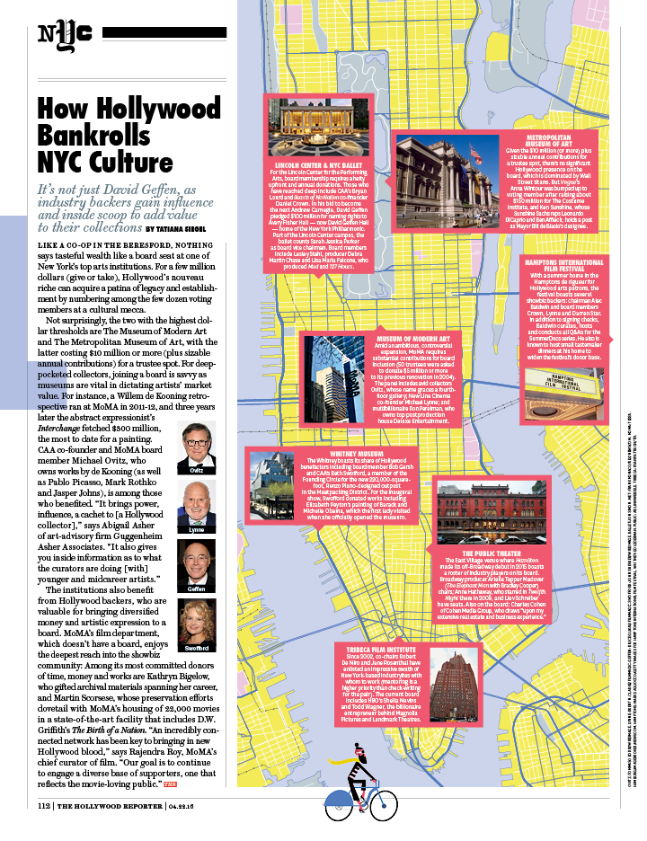 2016 NYC Issue / The Hollywood Reporter / 4.22.15 / kelsey stefanson / art direction + graphic design / yeskelsey.com