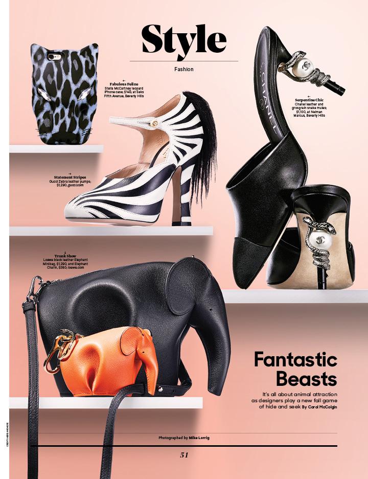 Fantastic Beasts / The Hollywood Reporter / 11.11.16 / kelsey stefanson / art direction + graphic design / yeskelsey.com