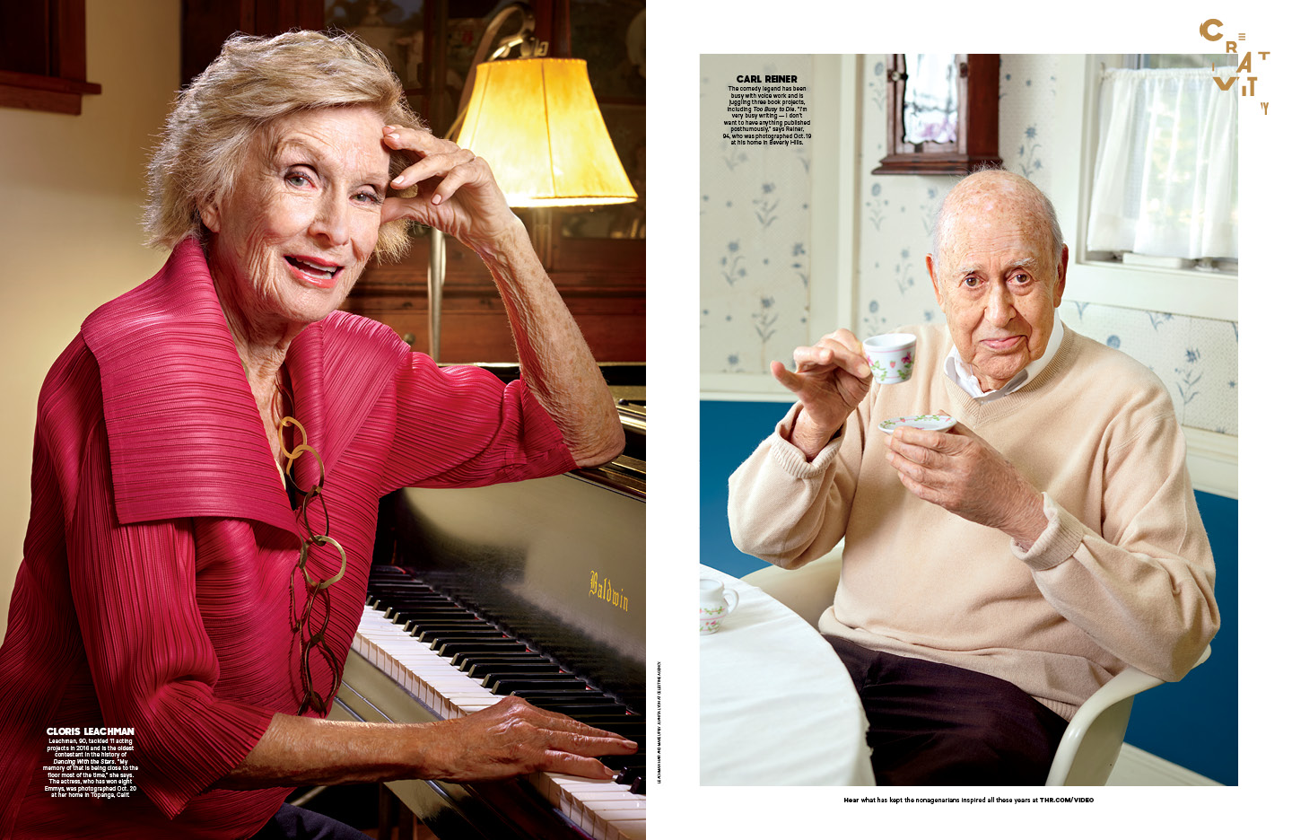 """""""Retire? F— That"""" / The Hollywood Reporter / 1.6.17 / kelsey stefanson / art direction + graphic design / yeskelsey.com"""