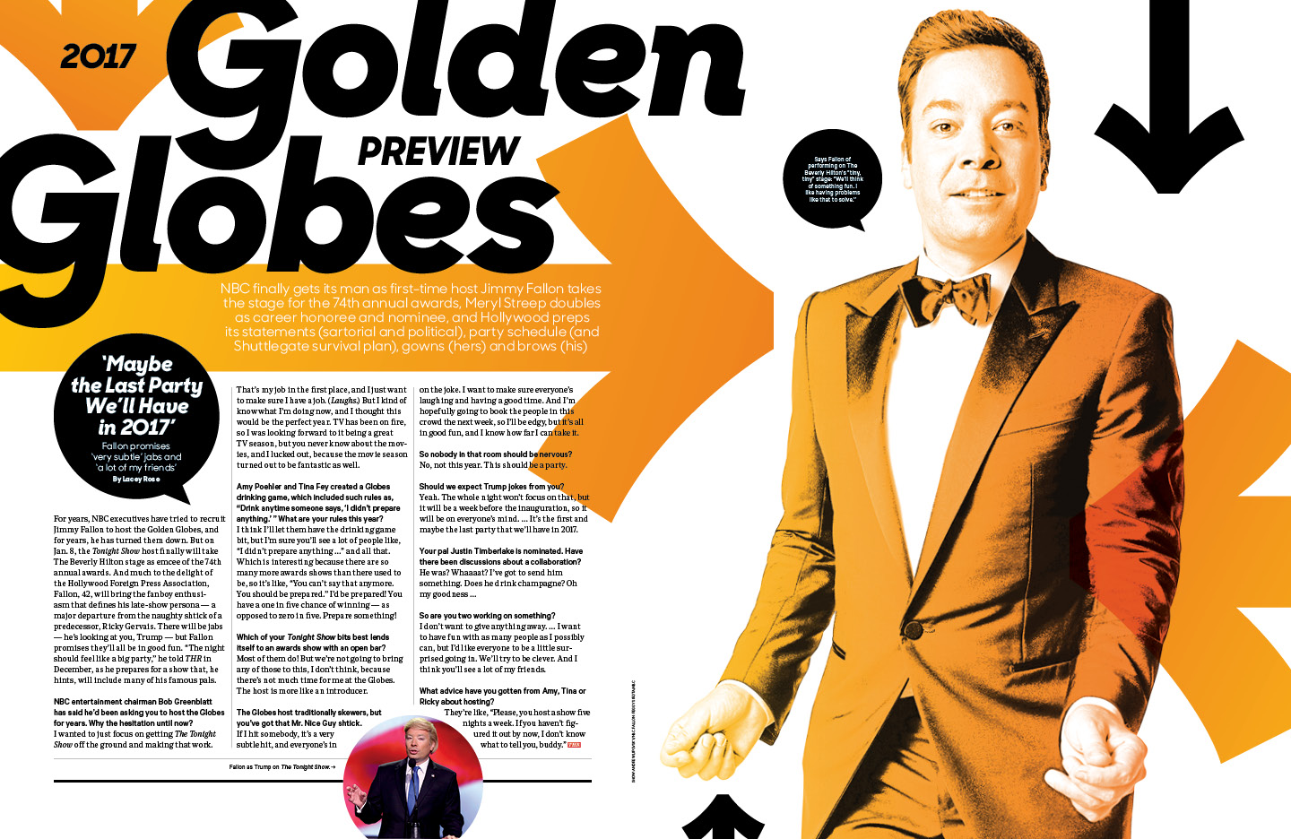 2017 Golden Globes Preview / The Hollywood Reporter / 1.13.17 / kelsey stefanson / art direction + graphic design / yeskelsey.com