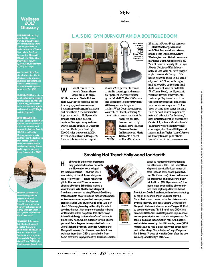 Hollywood Wellness 2017 / The Hollywood Reporter / 1.20.17 / kelsey stefanson / art direction + graphic design / yeskelsey.com