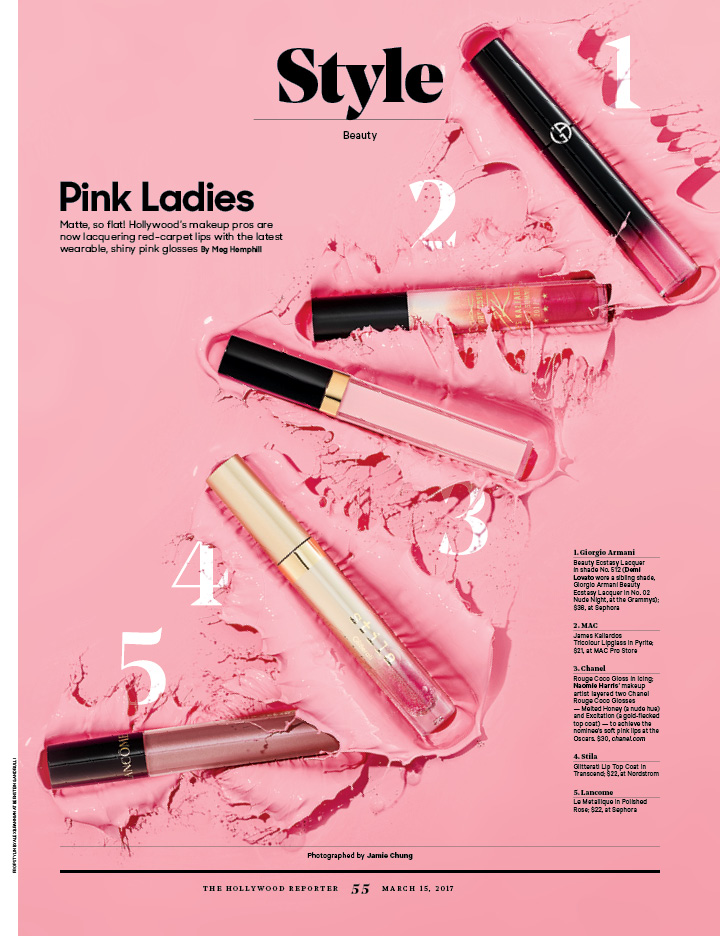 Pink Ladies / The Hollywood Reporter / 3.15.17 / kelsey stefanson / art direction + graphic design / yeskelsey.com