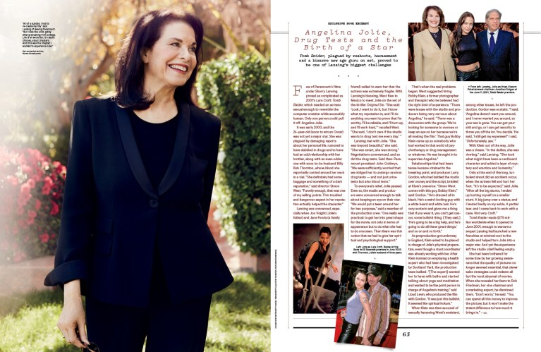 Sherry Lansing / The Hollywood Reporter / 3.29.17 / kelsey stefanson / art direction + graphic design / yeskelsey.com