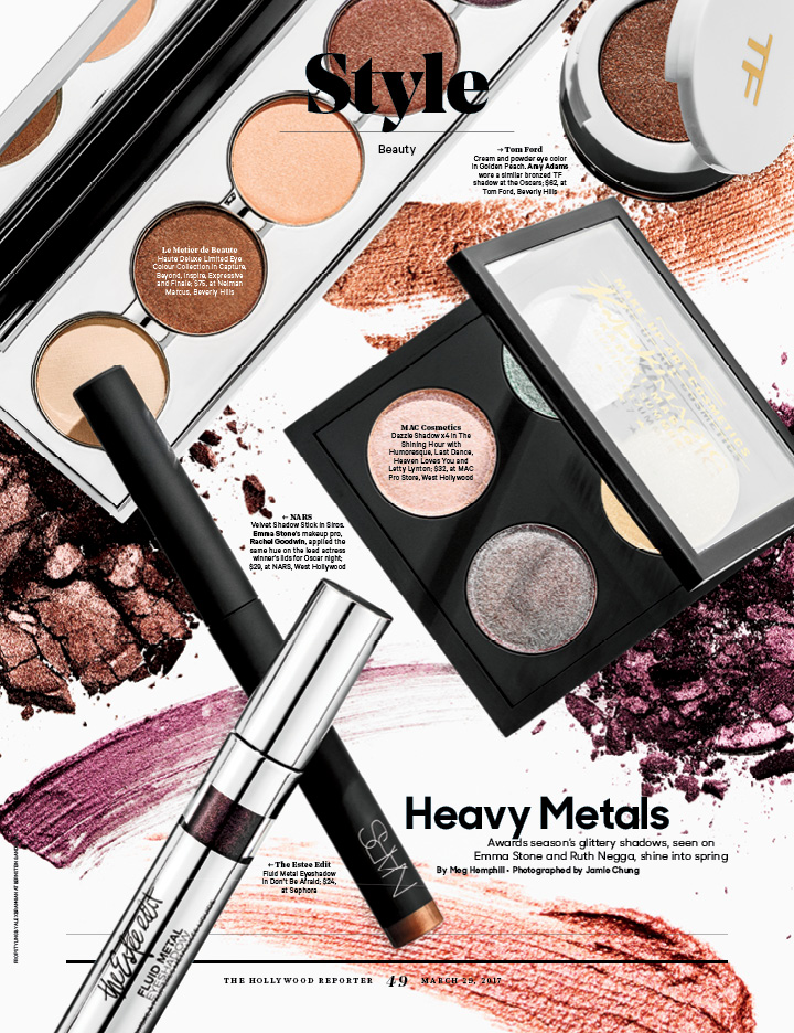 Heavy Metals / The Hollywood Reporter / 3.29.17 / kelsey stefanson / art direction + graphic design / yeskelsey.com