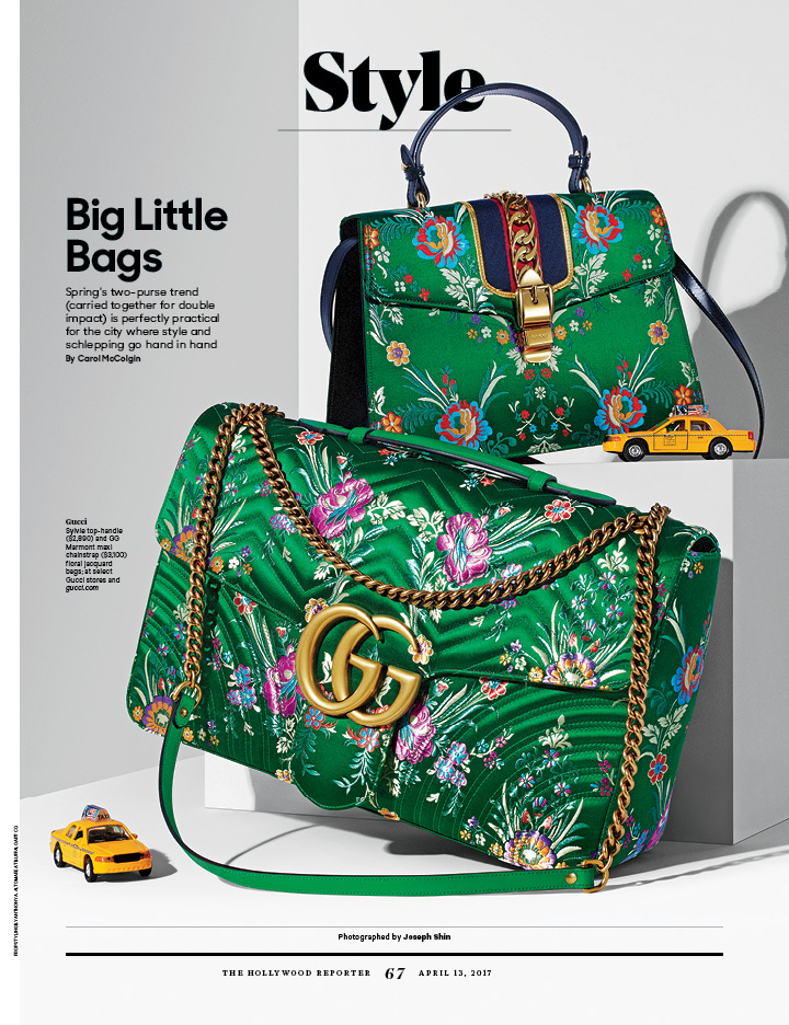 Big Little Bags / The Hollywood Reporter / 4.13.17 / kelsey stefanson / art direction + graphic design / yeskelsey.com