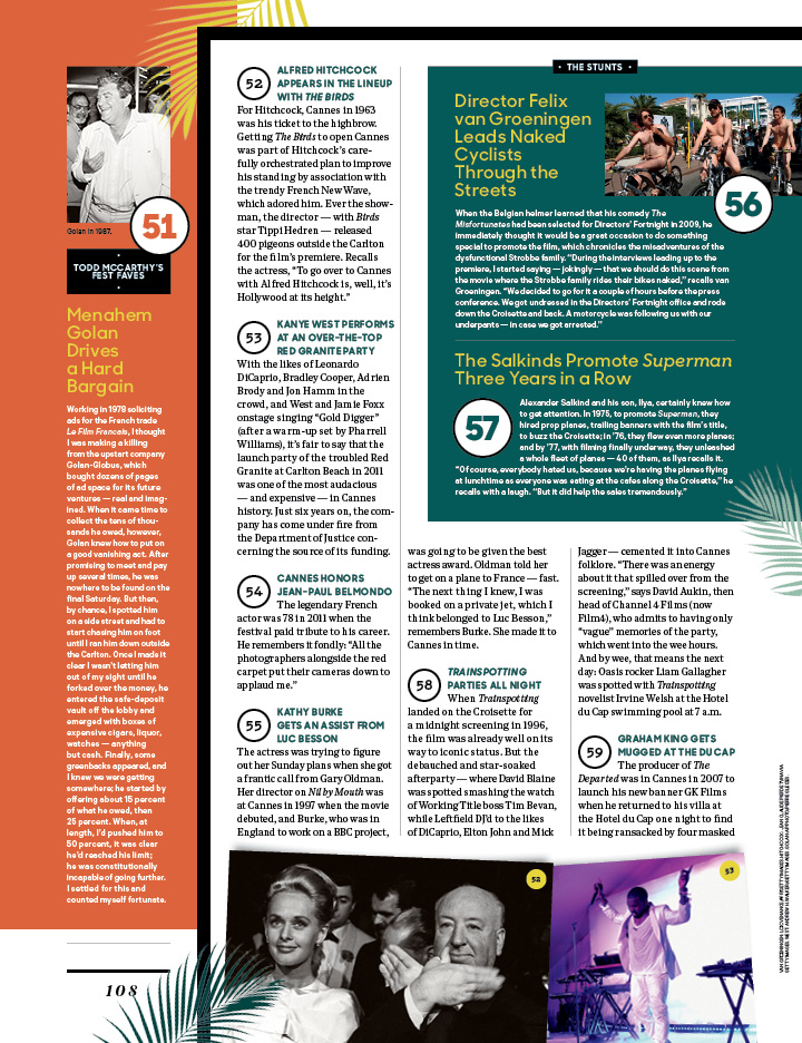 Cannes' Most Memorable Moments / The Hollywood Reporter / 5.10.17 / kelsey stefanson / art direction + graphic design / yeskelsey.com
