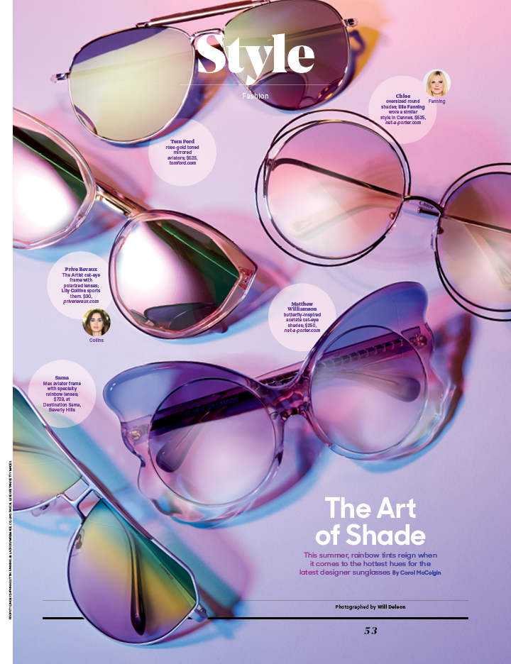 The Art of Shade / The Hollywood Reporter / 7.19.17 / kelsey stefanson / art direction + graphic design / yeskelsey.com