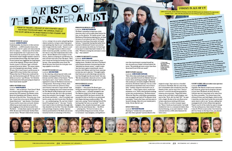 Artists of The Disaster Artist / The Hollywood Reporter / 11.15.17 / kelsey stefanson / art direction + graphic design / yeskelsey.com