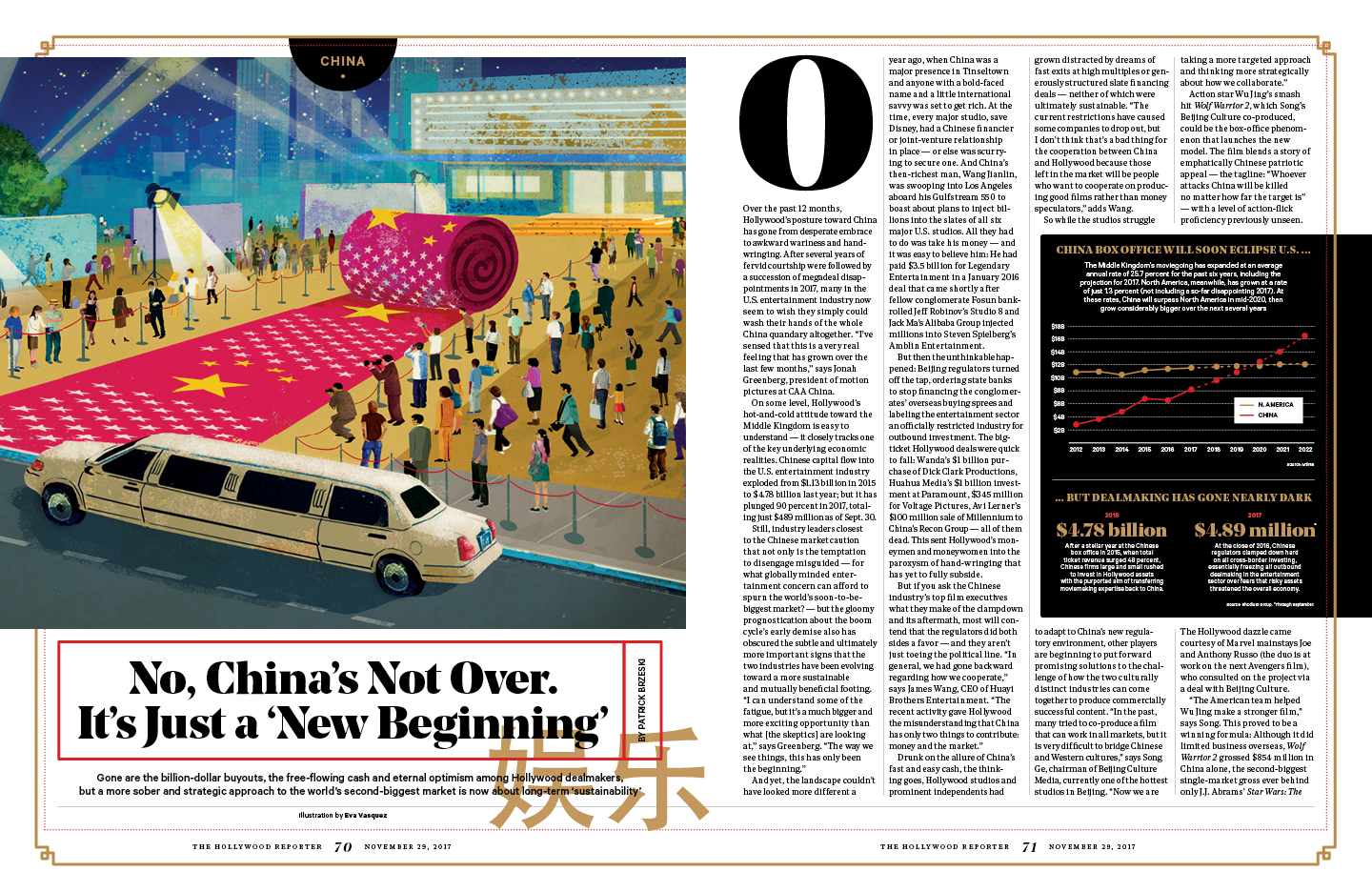 No, China's Not Over / The Hollywood Reporter / 11.29.17 / kelsey stefanson / art direction + graphic design / yeskelsey.com