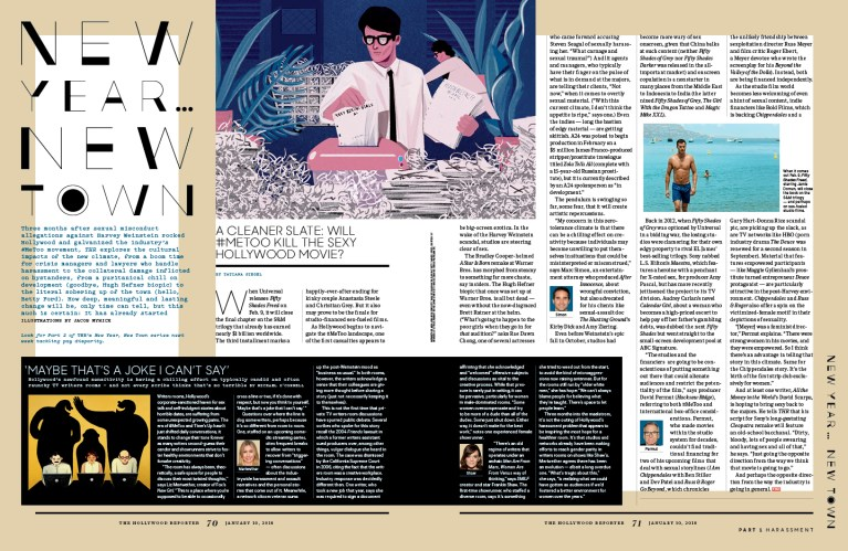 New Year ... New Town / The Hollywood Reporter / 1.10.18 / kelsey stefanson / art direction + graphic design / yeskelsey.com