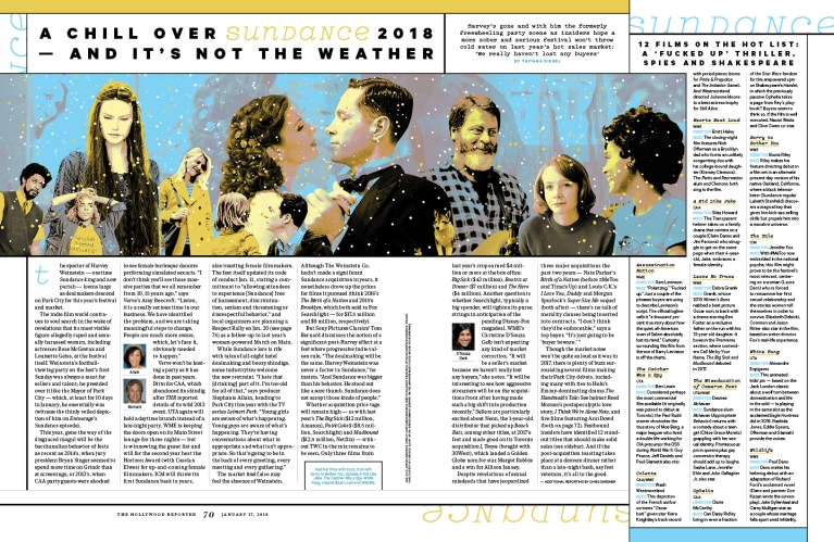 Sundance 2018 / The Hollywood Reporter / 1.17.18 / kelsey stefanson / art direction + graphic design / yeskelsey.com