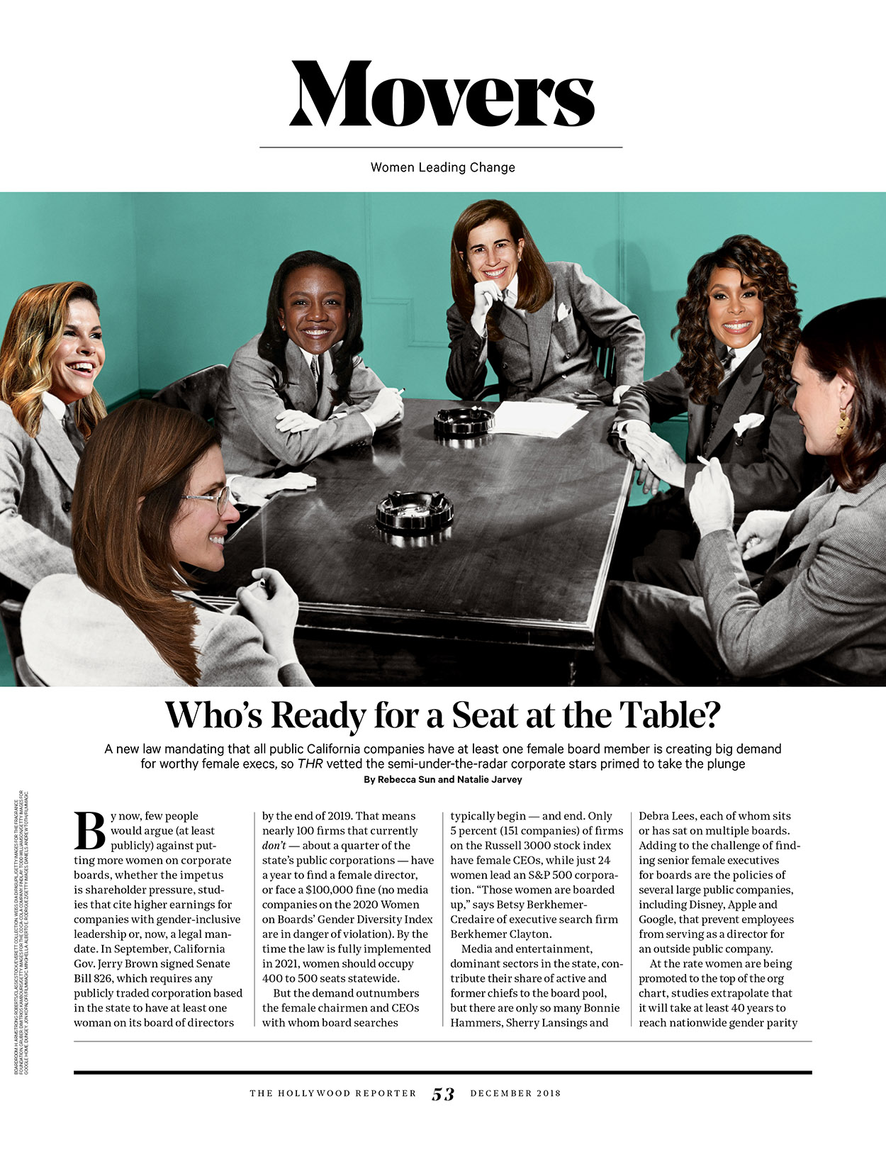 A Seat At The Table / The Hollywood Reporter / Women in Entertainment 2018 / kelsey stefanson / art direction + graphic design / yeskelsey.com