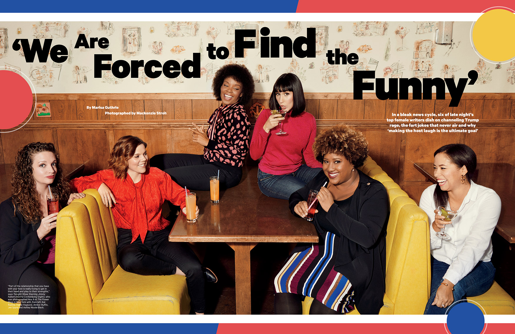 'Forced to Find the Funny' / The Hollywood Reporter / Women in Entertainment 2018 / kelsey stefanson / art direction + graphic design / yeskelsey.com