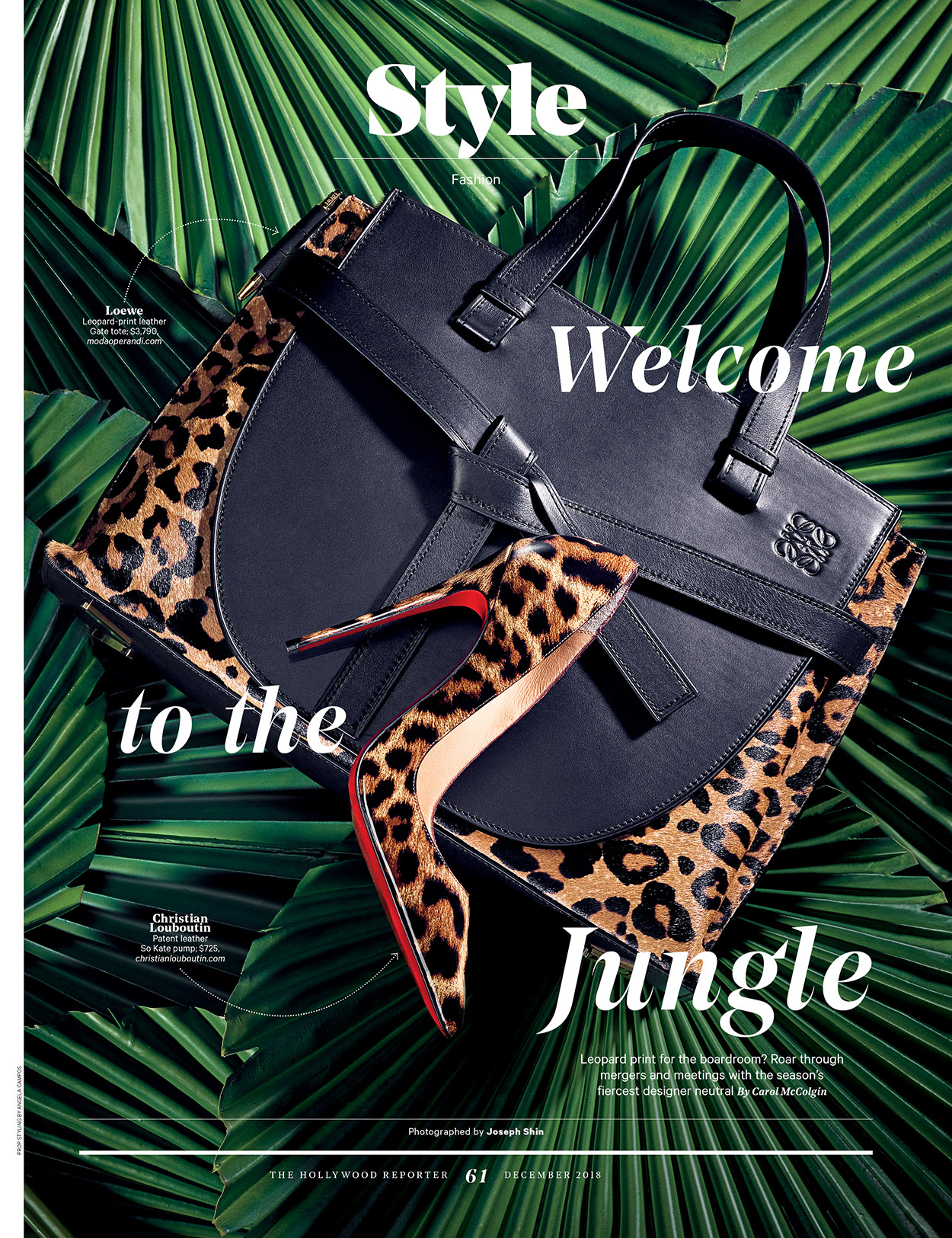 Welcome to the Jungle / The Hollywood Reporter / Women in Entertainment 2018 / kelsey stefanson / art direction + graphic design / yeskelsey.com