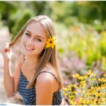 Mackenzie | New Albany High School Senior Session at Franklin Park Conservatory